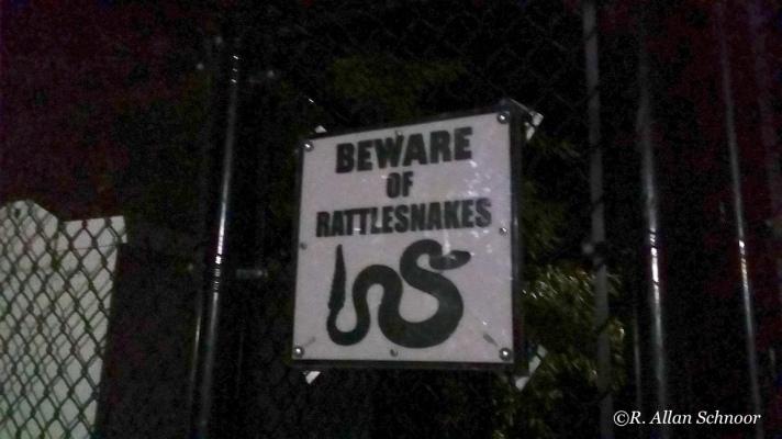 Football Field warning sign.